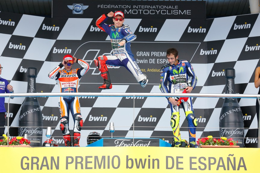 Marquez, Lorenzo, Rossi, Repsol Honda Team, Movistar Yamaha MotoGP, Jerez RACE