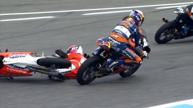Hanika takes out Guevara after the race