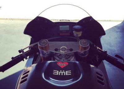 Pasini prueba una Moto2 en Aragón