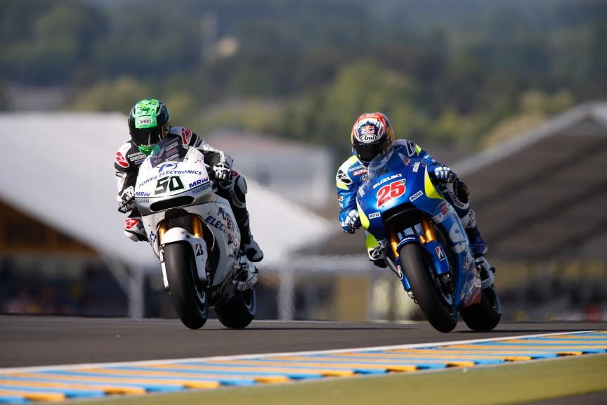Eugene Laverty, Maverick Viñales, Aspar MotoGP Team, Team Suzuki Ecstar, Le Mans FP2