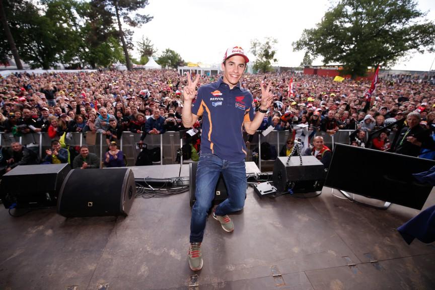 Marc Marquez, Le Mans' Espace Rencontre