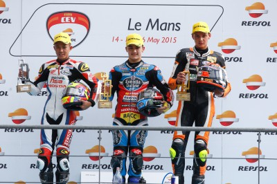 Moto3™ジュニア世界選手権:カネトが初優勝