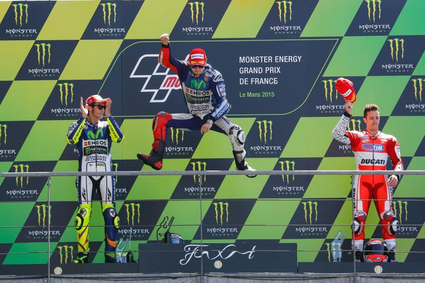 Rossi, Lorenzo, Dovizioso, Movistar Yamaha MotoGP, Ducati Team, Le Mans RACE