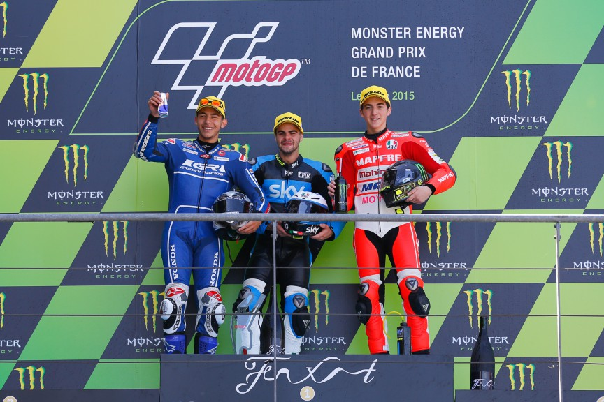 Bastianini, Fentai, Bagnaia, Gresini Racing Team Moto3, Sky Racing Team VR 46, Le Mans RACE