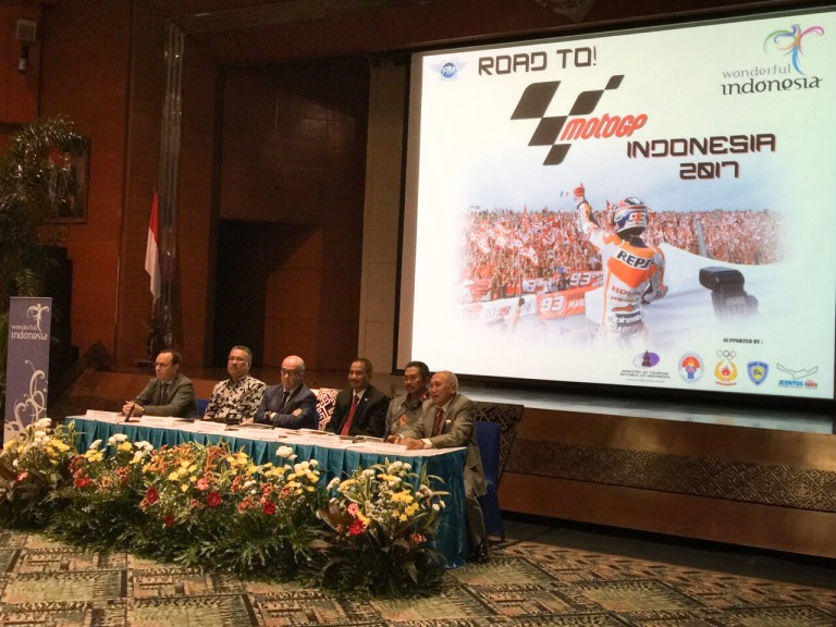 MotoGP, the Indonesian Government and the Sentul Circuit held talks in Jakarta about a potential MotoGP event in 2017