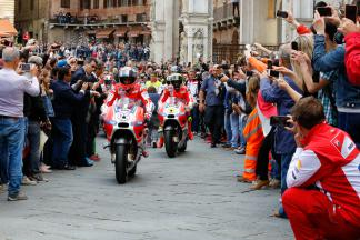 Ducati take part in a horse race with a difference