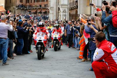 Le clan Ducati fait escale à Sienne