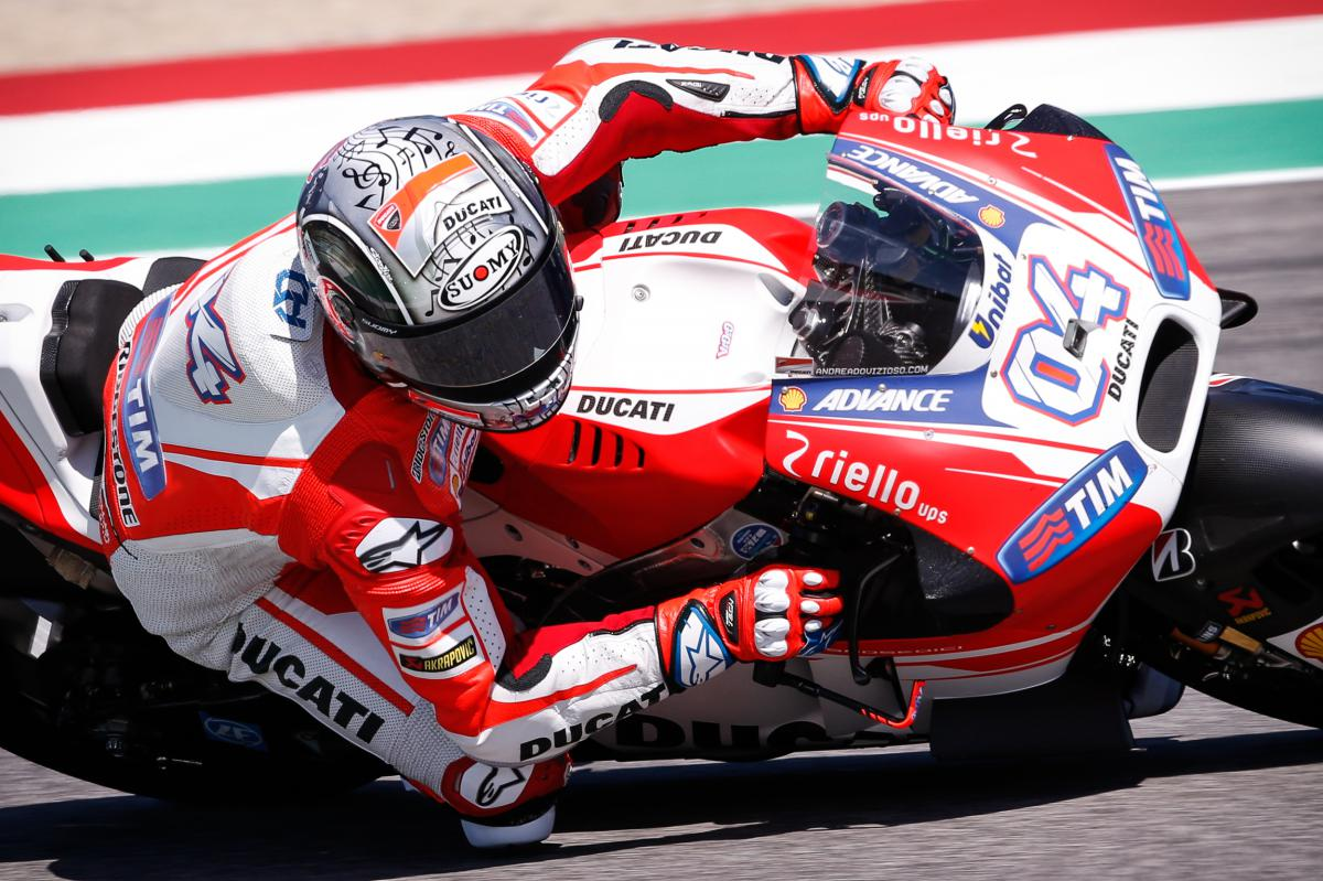 La Ducati de Dovizioso completa un fin de semana redondo para los italianos