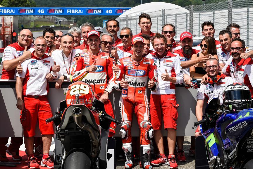 Dovizioso, Iannone, Ducati Team, Mugello Q2