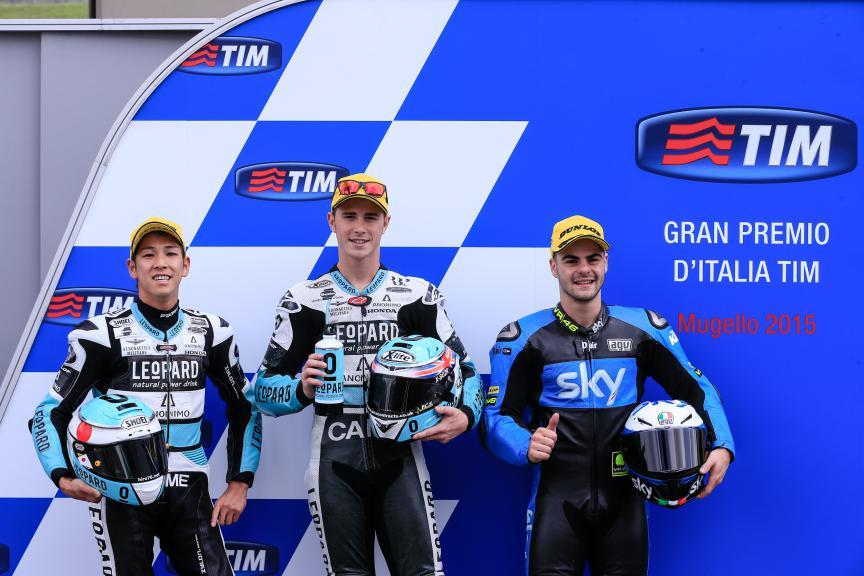 Ono, Kent, Fenati, Leopard Racing, Sky Racing Team VR46, Mugello QP