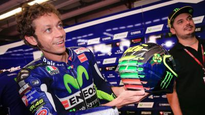#VR46Mirror: Rossi's special Mugello 2015 helmet