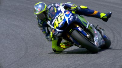 Free Video: Rossi's epic save at the #ItalianGP