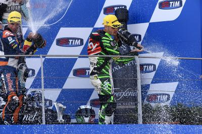 Fenati: 'Emozionante salire sul podio al GP di casa'