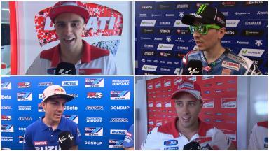 #CatalanGP Los pilotos de MotoGP™ hablan de los entrenamientos.