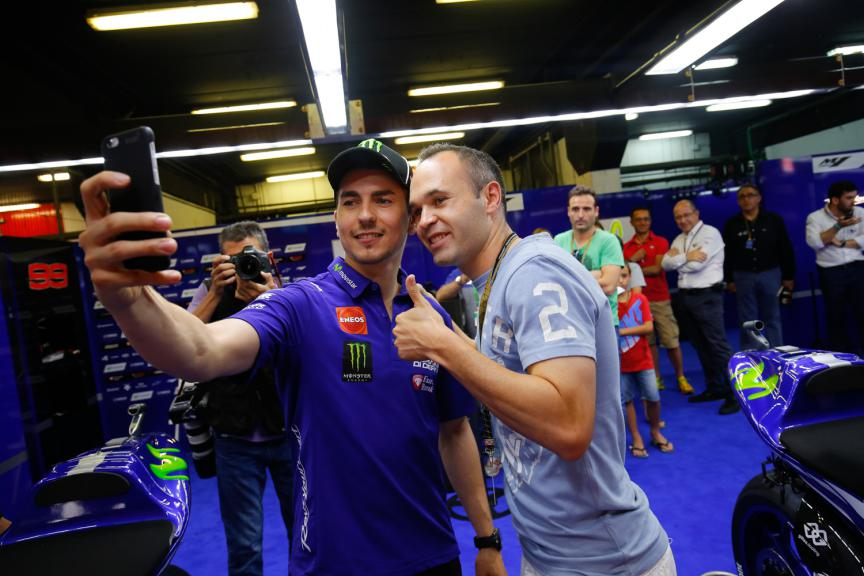 Jorge Lorenzo and Andres Iniesta, FCB Player