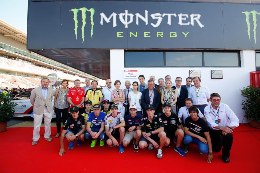 Joan Moreta's tribute at the Barcelona-Catalunya Circuit