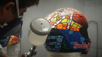 The Making of Marquez's new helmet