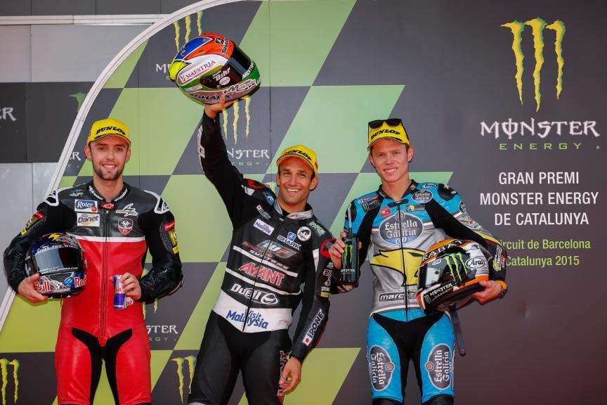 Jonas Folger, Johann Zarco and Tito Rabat - Catalan GP, Moto2 QP