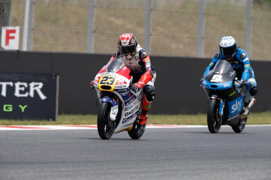 Niccolo Antonelli, Romano Fenati - Catalan GP, Moto3 QP