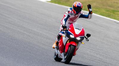 Stoner: Ehrenrunde mit der Honda RC213V-S