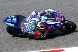 Lorenzo piega Rossi in Catalunya