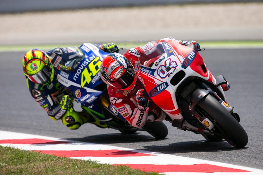 Andrea Dovizioso, Valentino Rossi - Catalan GP, MotoGP RAC