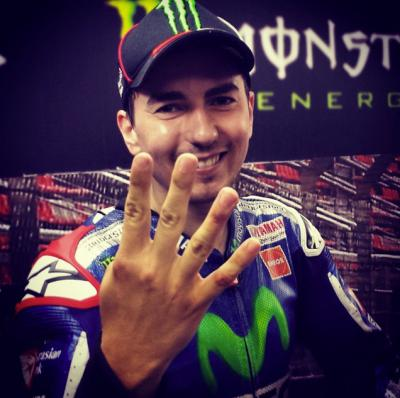 Fourth victory in a row! @jorgelorenzo99