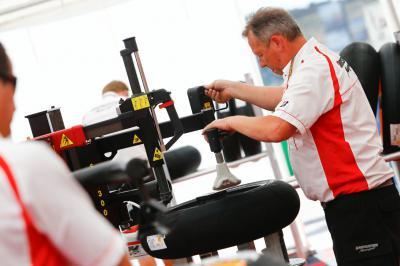 Bridgestone assess tyre performance at the Catalan GP