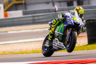 Rossi leads the way in FP1 on new frame
