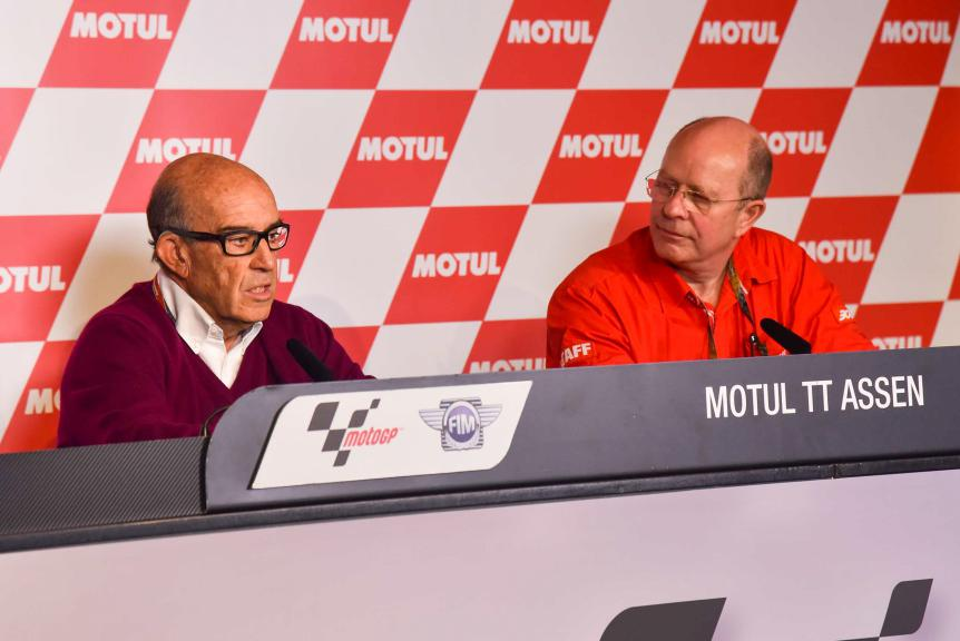 Dorna CEO Carmelo Ezpeleta and Hervé Amelot, President of Motul's Management Board, Motul TT Assen