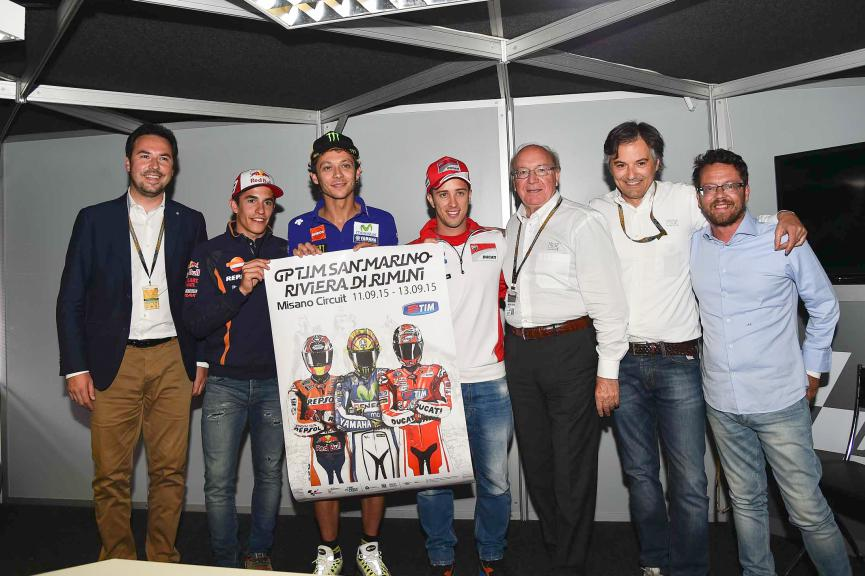 Official poster Misano GP 2015 presentation