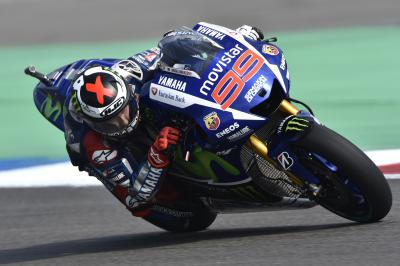 """Lorenzo: """"I was very competitive with a used tyre"""""""
