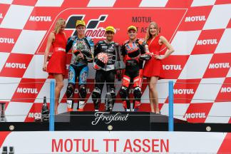 Zarco, Lowes, Rabat, Ajo Motorsport, Speed Up Racing, Estrella Galicia 0,0 Marc VDS, Assen Race