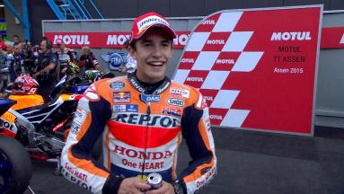 Marquez: 'I gained the position and I was inside...'