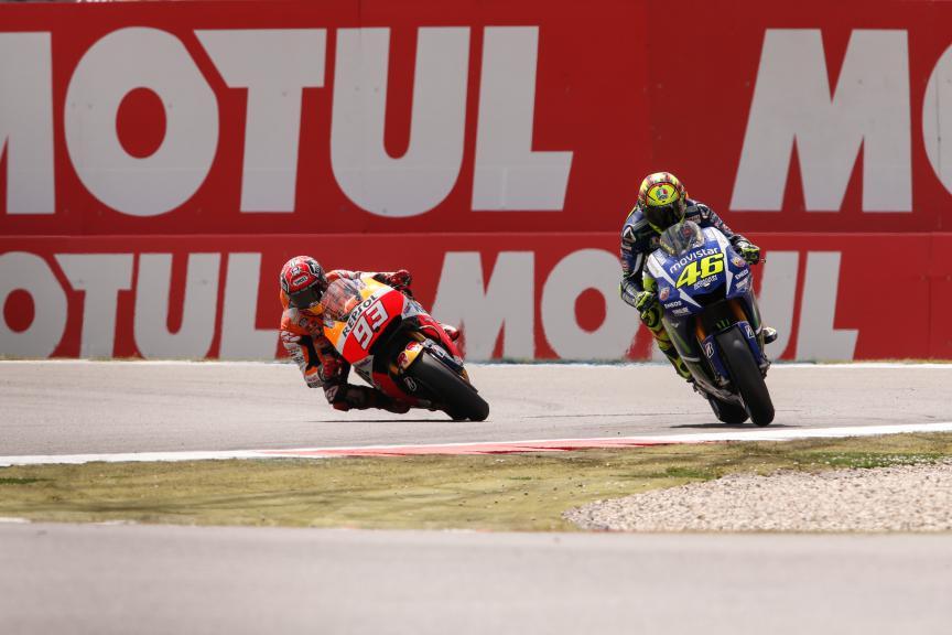 Marquez, Rossi, Repsol Honda Team, Movistar Yamaha MotoGP, Assen Race