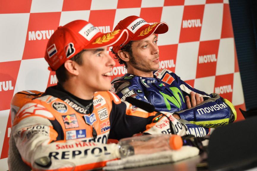 Marquez, Lorenzo, Rossi, Repsol Honda Team, Movistar Yamaha MotoGP, Assen Race