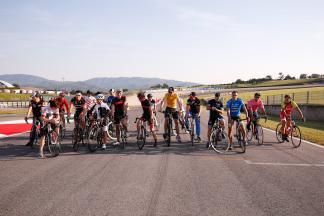 MotoGP Riders cycling in SportWeek