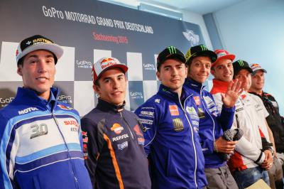 Riders talk season so far at German GP Press Conference