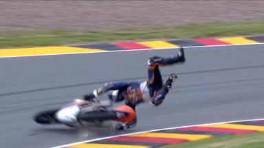 Oliveira crashes out of German GP