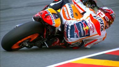 Márquez, domina los entrenamientos del viernes en Alemania