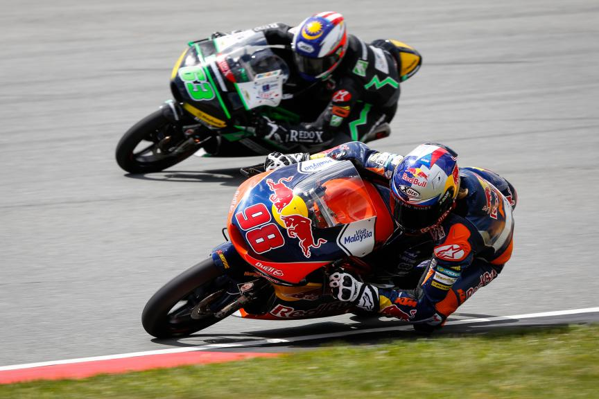 Moto3 Action, German GP FP2