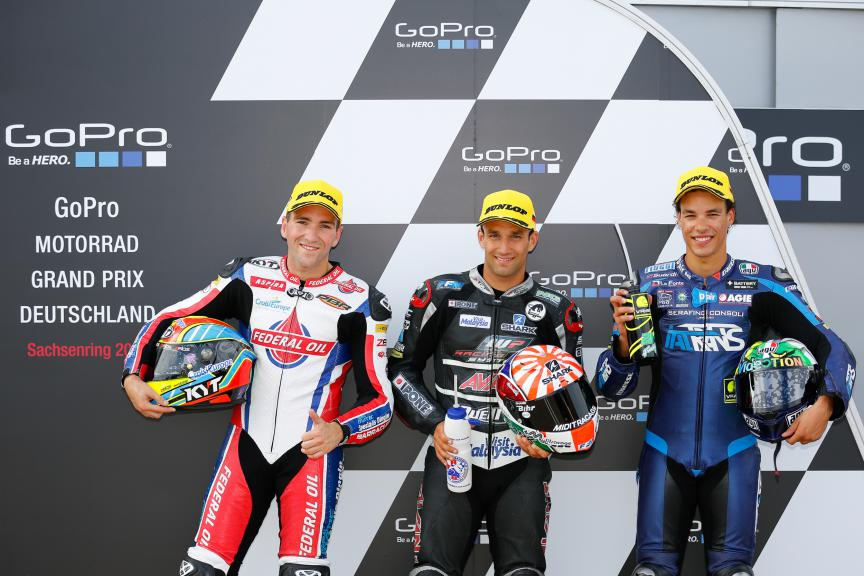 Simeon, Zarco, Morbidelli, Federal Oil Gresini Moto2, Ajo Motorsport, Italtrans Racing Team, German GP QP