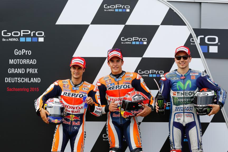 Pedrosa, Marquez, Lorenzo, Repsol Honda Team, Movistar Yamaha MotoGP, German GP Q2