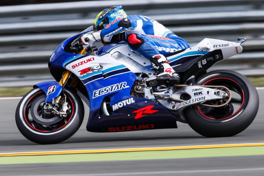 Aleix Espagraro, Team Suzuki Ecstar, German GP Q2