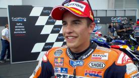 The two-time MotoGP World Champion wins a race again after six races in a row without winning.