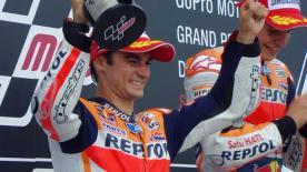 El piloto de Repsol Honda consigue su primer segundo puesto de la temporada.