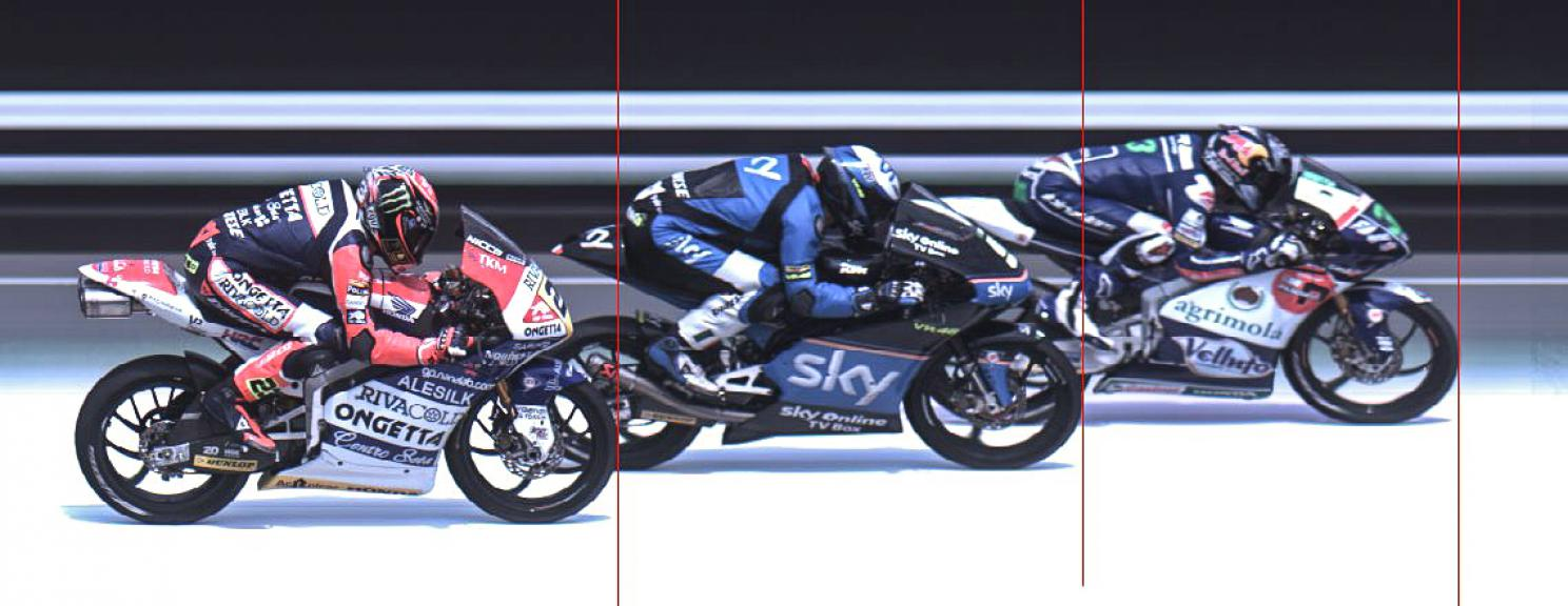 Photofinish Moto3 German GP RACE