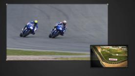 Una explicación de los adelantamientos más significativos en el Gran Premio GoPro de Alemania.
