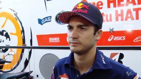 Dani Pedrosa fasst den ersten Testtag von Misano zusammen.