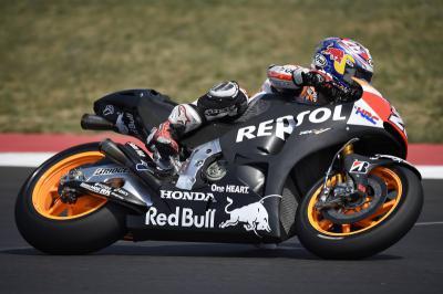 El equipo Repsol Honda sigue con sus pruebas en Italia